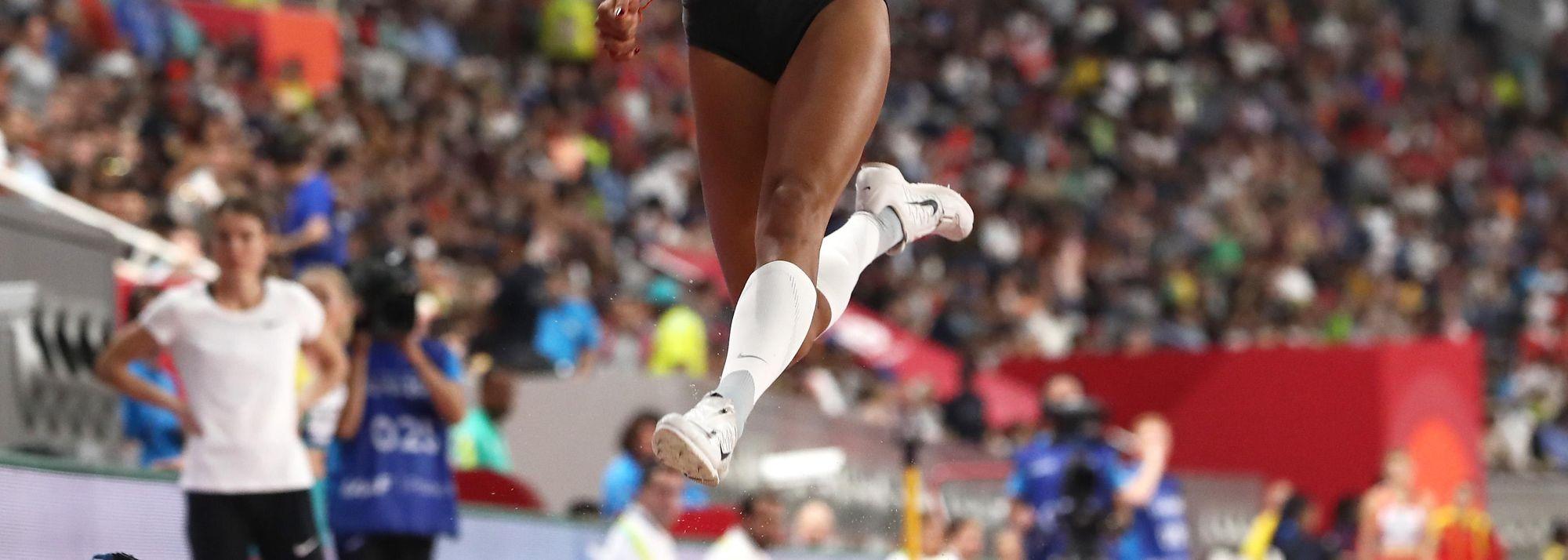 In the third round of the long jump at the IAAF World Athletics Championships Doha 2019, Malaika Mihambo's dreams almost came crashing down.