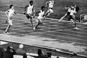 Wyomia Tyus wins the 100m at the 1968 Olympic Games in Mexico City