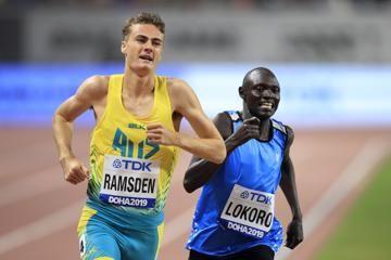 Refugee Athlete Team member Paulo Amotun Lokoro at the IAAF World Athletics Championships Doha 2019