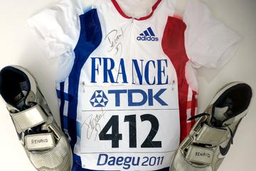 Renaud Lavillenie's signed kit from the IAAF World Championships Daegu 2011
