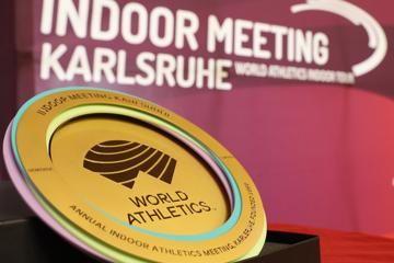 World Athletics Heritage Plaque - Indoor Meeting Karlsruhe, 31 January 2020